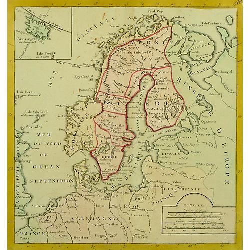 Map of Scandinavia, 1767