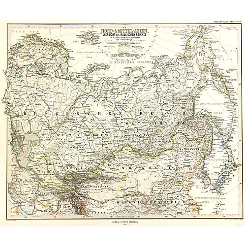 Map of Central Asia, 1874