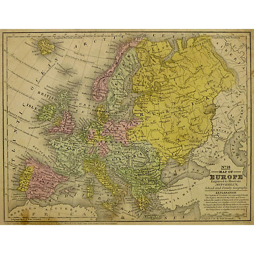 Map of Europe, 1839
