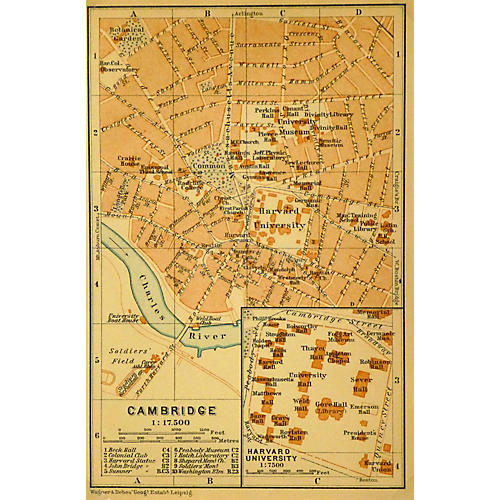 Map of Cambridge, 1904