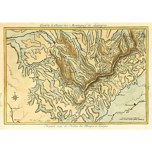 French Watershed Map, 1778