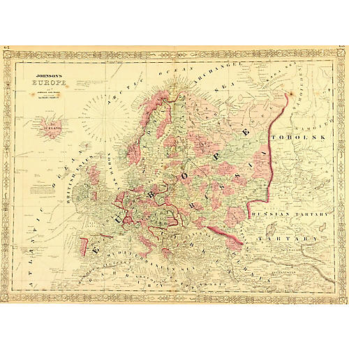 Map of Europe, 1868