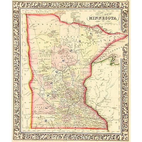 Map of Minnesota, 1862