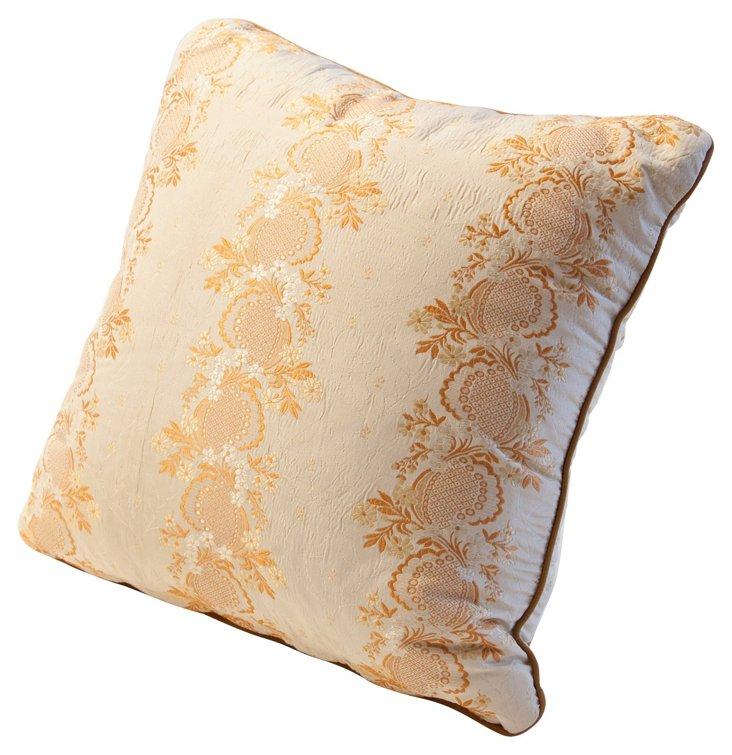 Pillow w/ Antique Silk Lampas