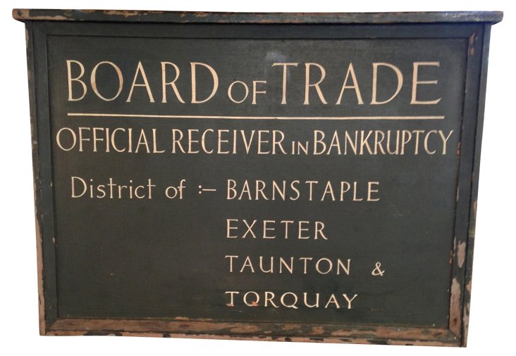 Hand-Painted Trade Sign