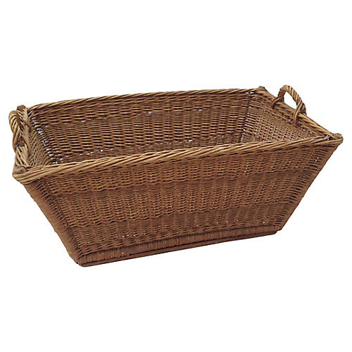 French Wicker Market Basket