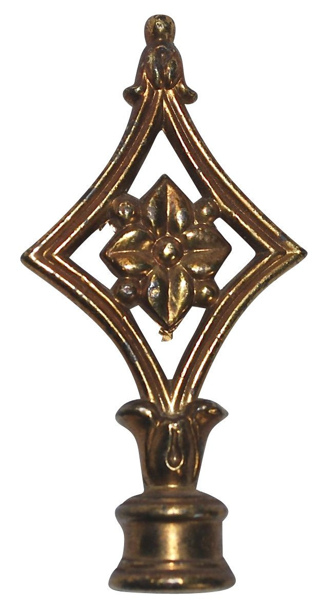 Flower in a Diamond Lamp Finial