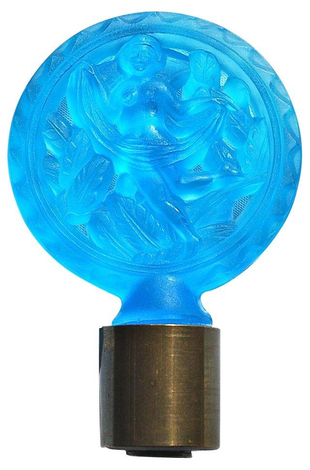 Hoffmann Nude Blue Glass Finial