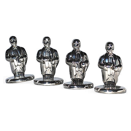 Butler Chrome Place Card Holders, S/4