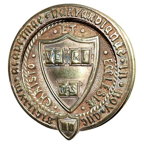 Harvard Coat of Arms Door Knocker 1915