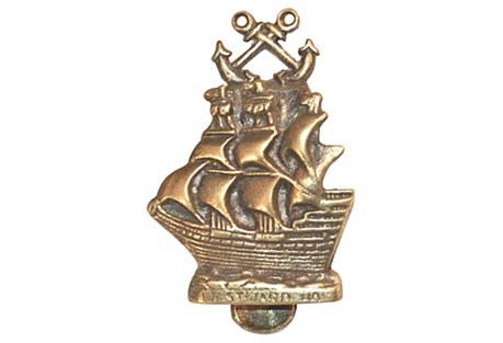 Westward Ho Clipper Ship Door Knocker