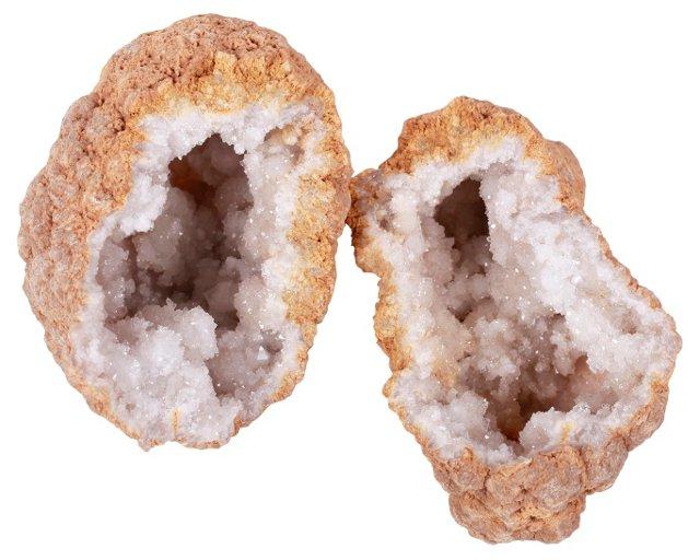 Quartz Geode, 2 Pcs