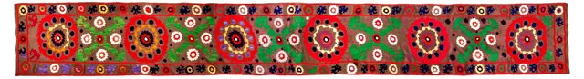 Hand-Embroidered Suzani Table Runner