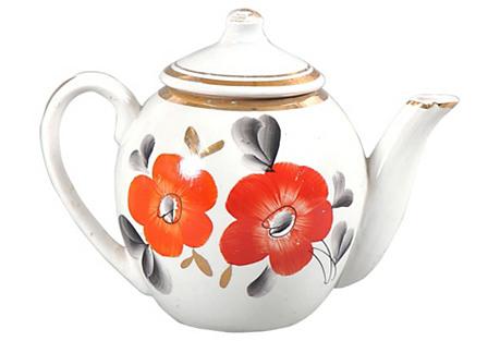 Floral Russian Teapot