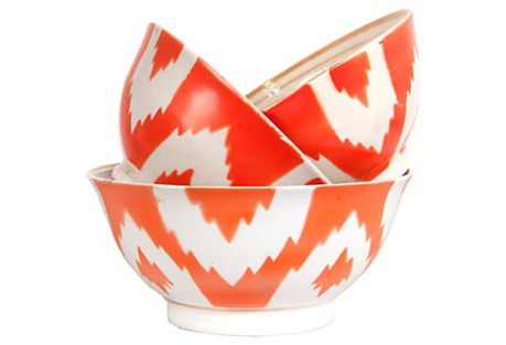 Sola Russian Hand-Painted Bowls, S/3