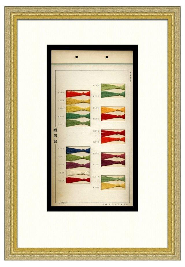 Framed    Silk Kimono Threads