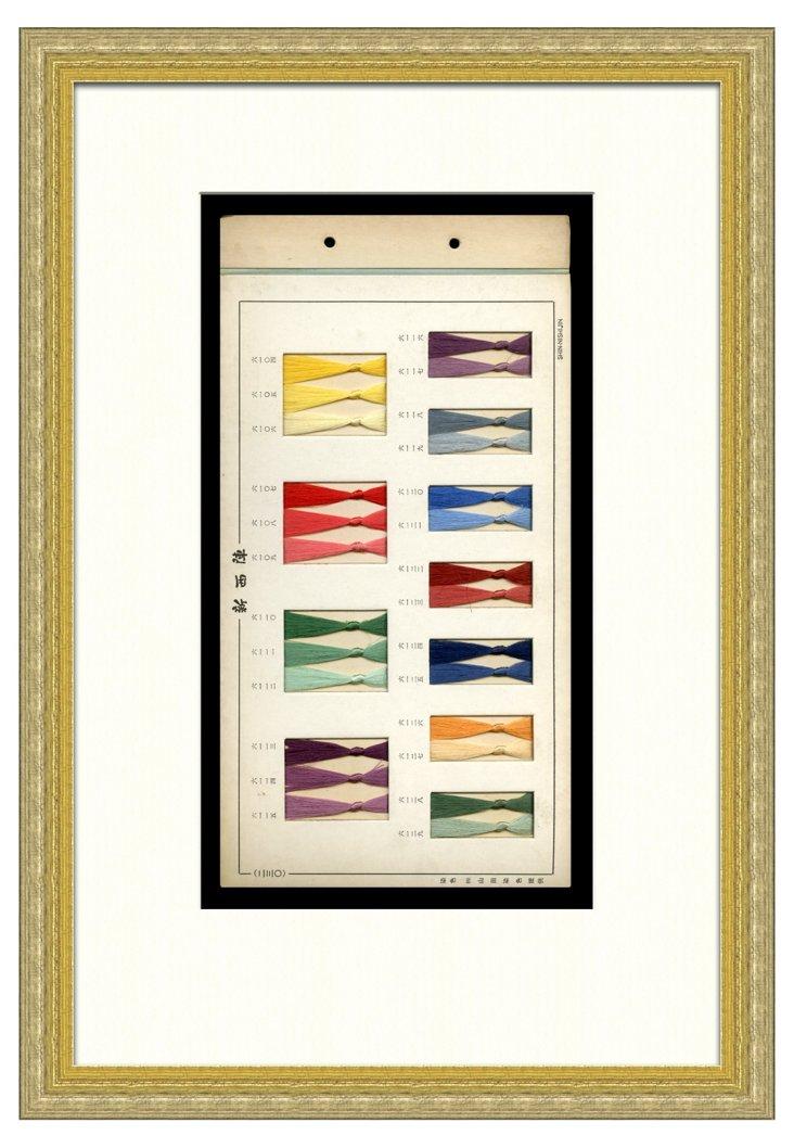 1930s Silk Kimono    Thread Samples