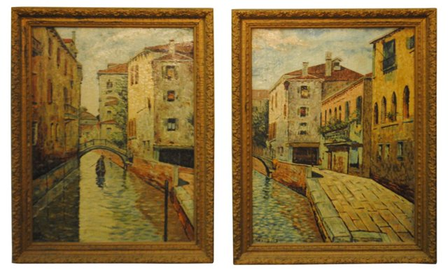 Venice by Fred Boos, Pair