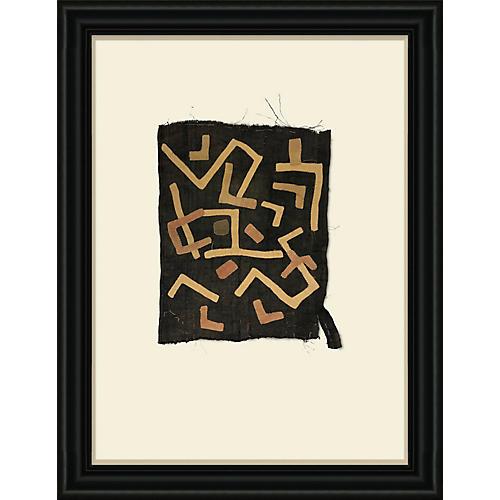 Framed Kuba Cloth