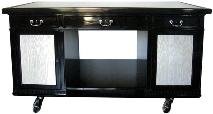 1920s Inset-Glass-Top Bar