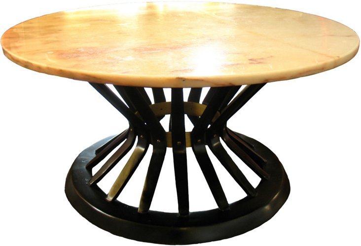 1960s Marble-Top Coffee Table