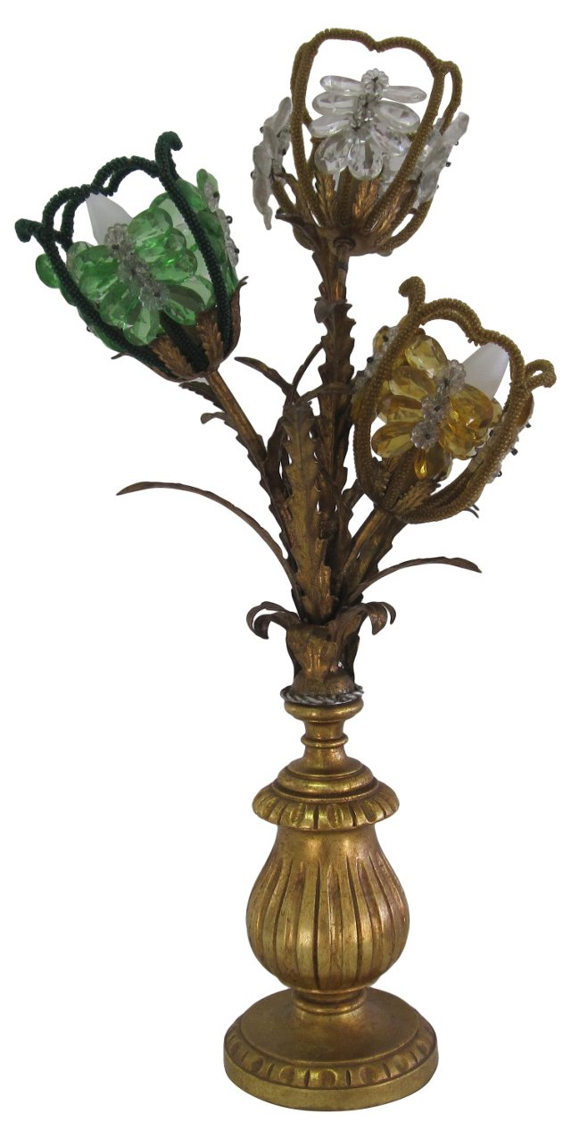 Italian Floral Lamp