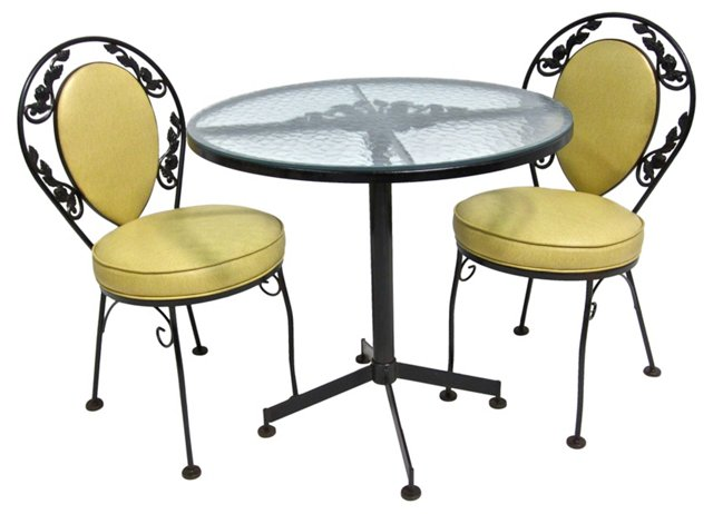 Table w/ Matching Chairs, 3 Pcs