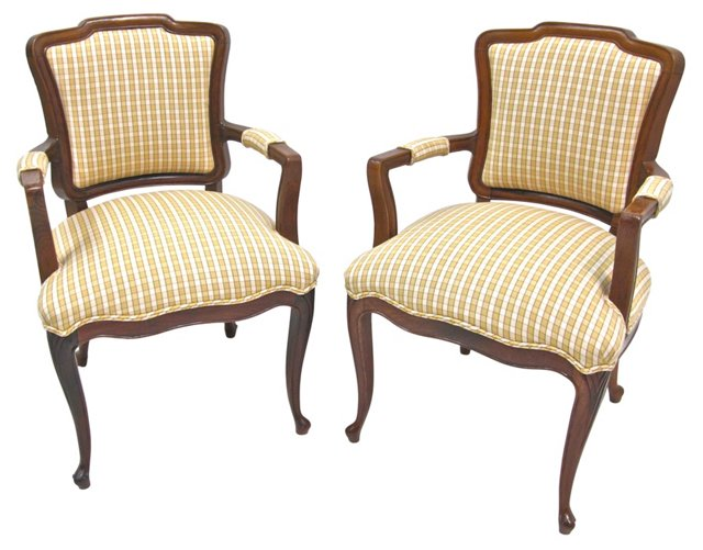 Provençal-Style   Chairs, Pair