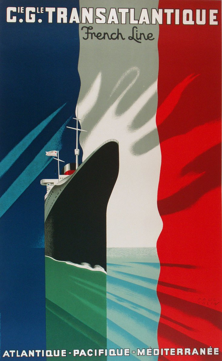 French Line Poster by Paul Colin, 1950