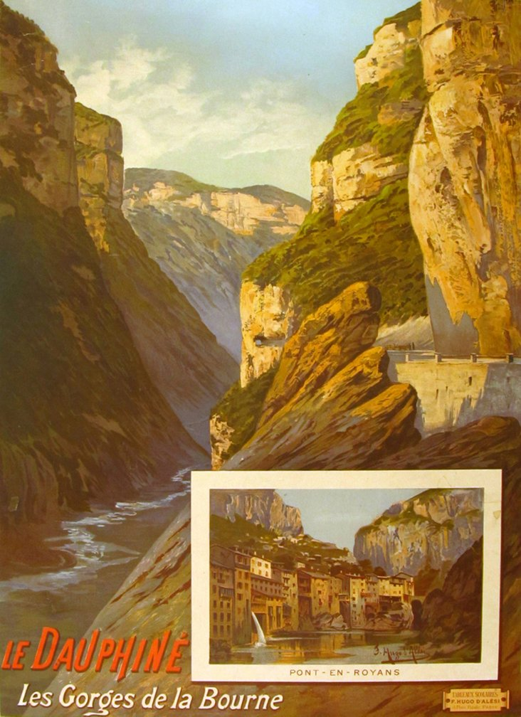 Les Gorges French Travel Poster