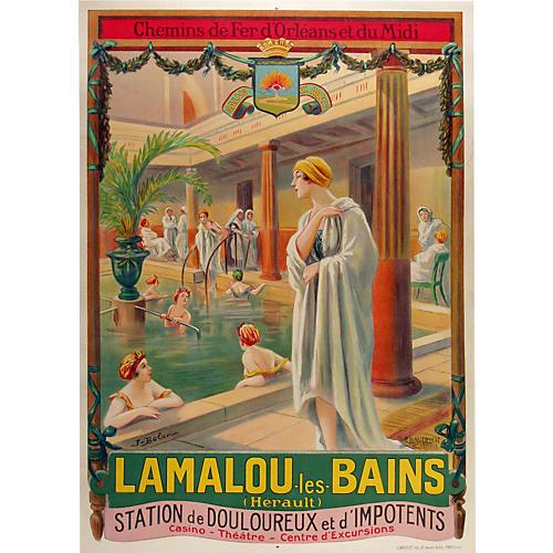 Lamalou les Bains French Poster