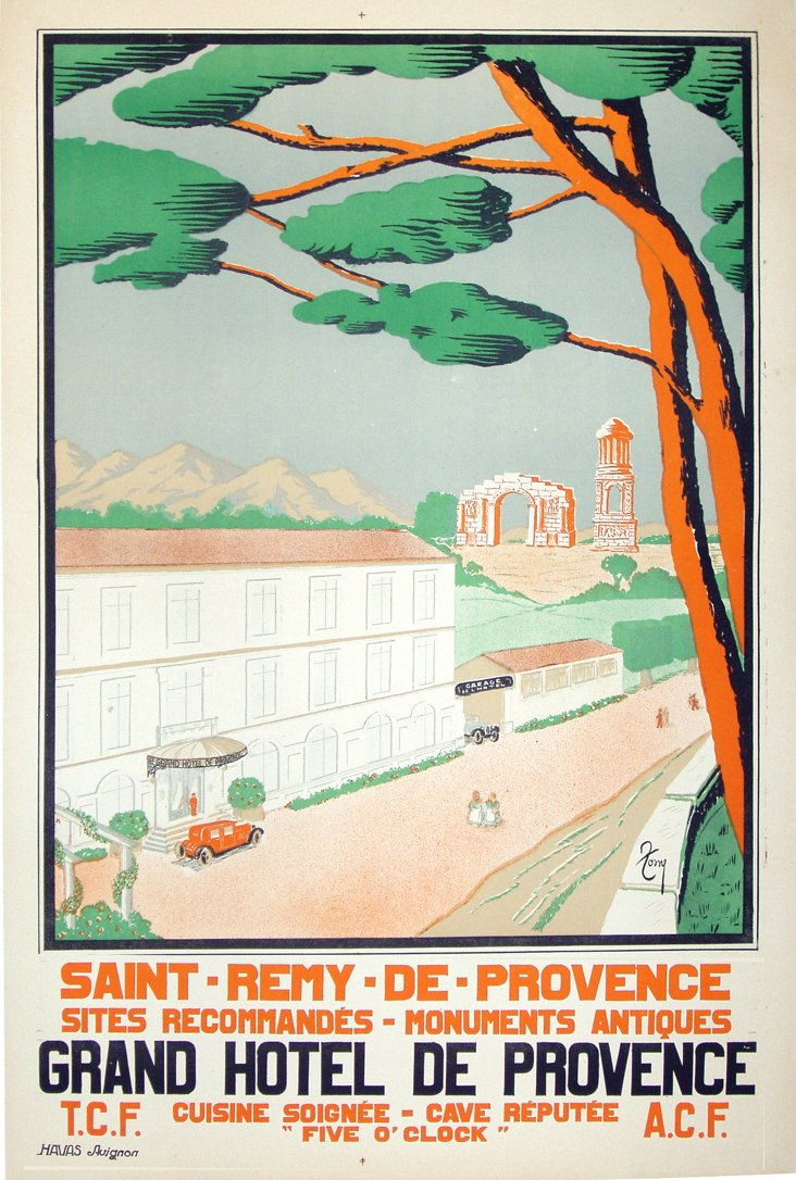 French Provence Travel Poster