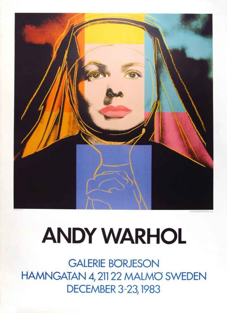 Andy Warhol Swedish Exhibition Poster