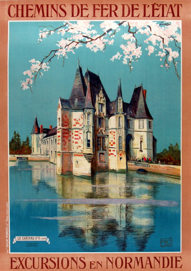French Normandy Château Poster