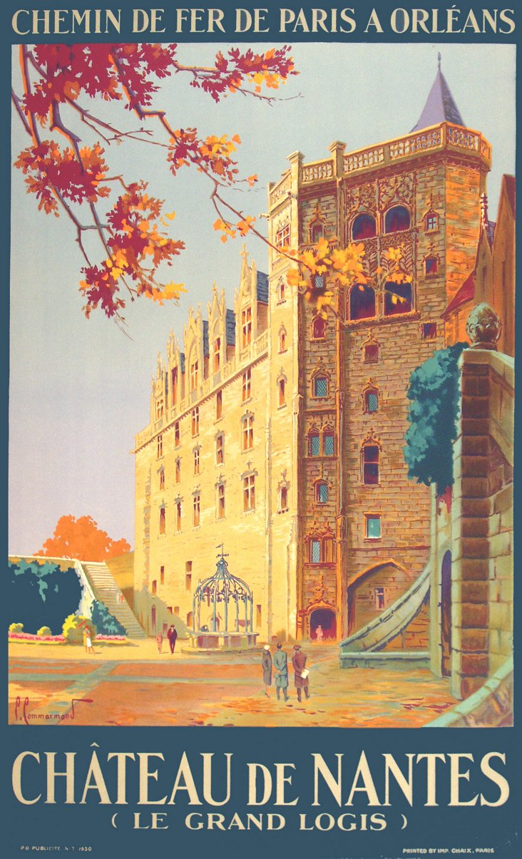 Château de Nantes Travel Poster