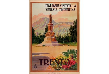 Italian Trento Travel Poster