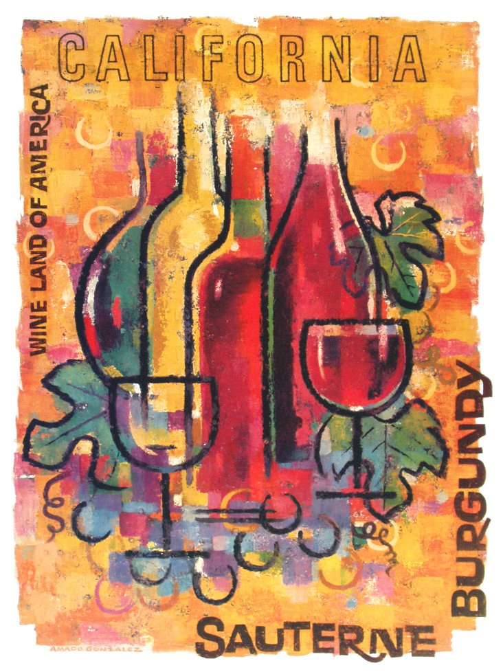 California Wine   Poster