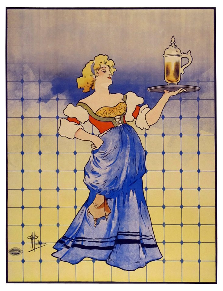 French Beer Poster, C. 1895