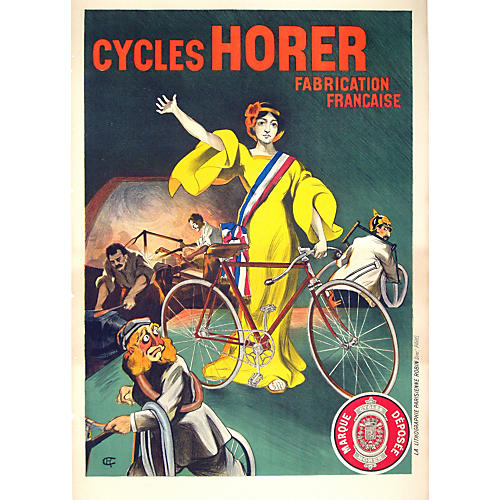 French Cycling Poster
