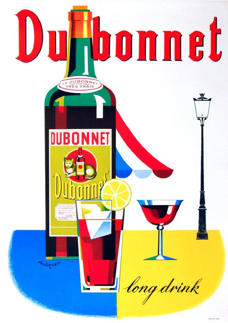 Dubonnet Long Drink Poster, C. 1950