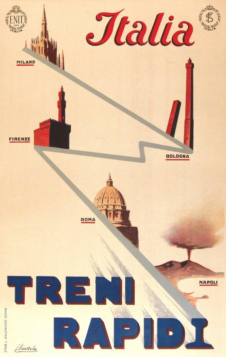 Italian Rapid Train Poster