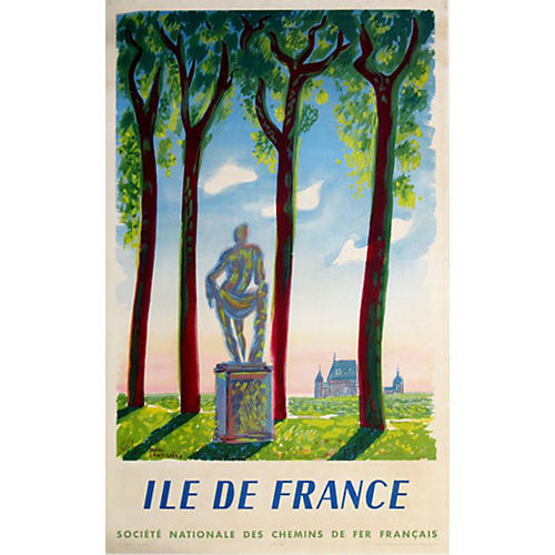 French Railway Poster, Ile de France