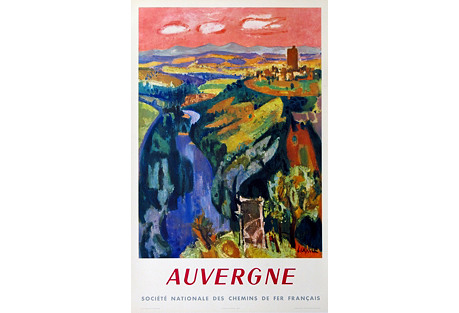French Travel Poster, Auvergne