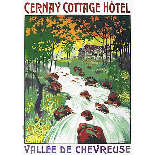 Cernay Hotel Travel Poster
