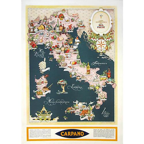 Original Italian Wine & Food Map