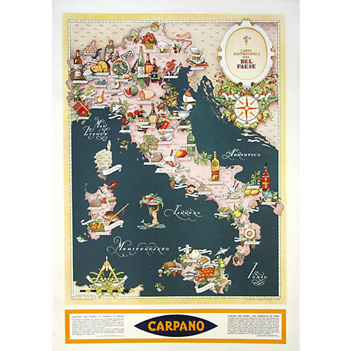 original italian wine food map