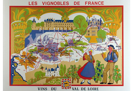 Wines of the Loire Valley French Map