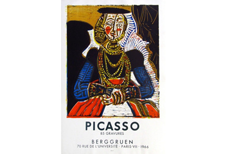 Picasso Art Exhibition Poster, 1966