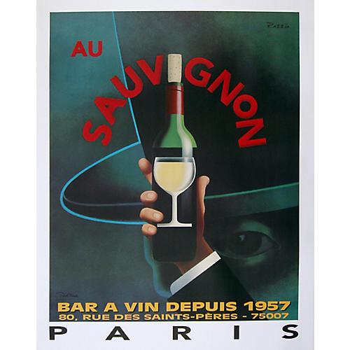 Paris 'Au Sauvignon' Poster