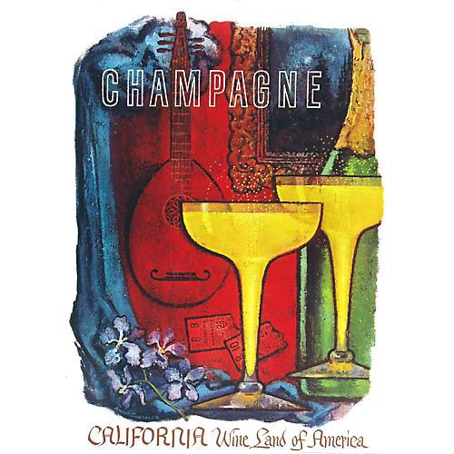 California Wine Land Champagne Poster
